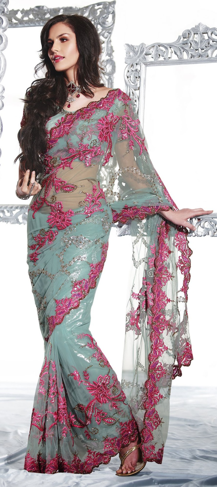 New arrival printed saree .......Awesome design,excellent look...Available at-> http://www.indianweddingsaree.com/product/71830.html