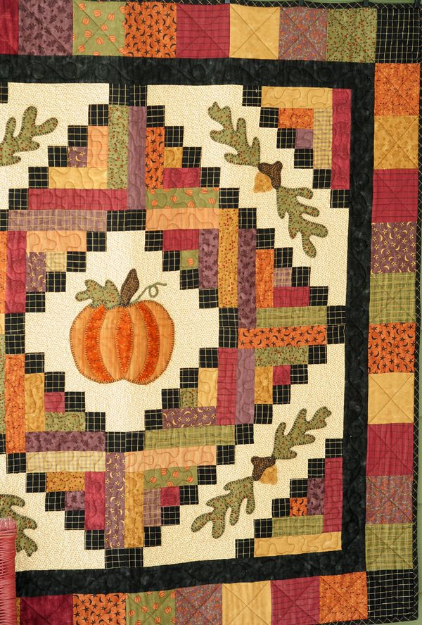 """Harvest Time"" Substitute #AccuQuilt dies to cut the shapes for this project at www.accuquilt.com! #Thanksgiving"