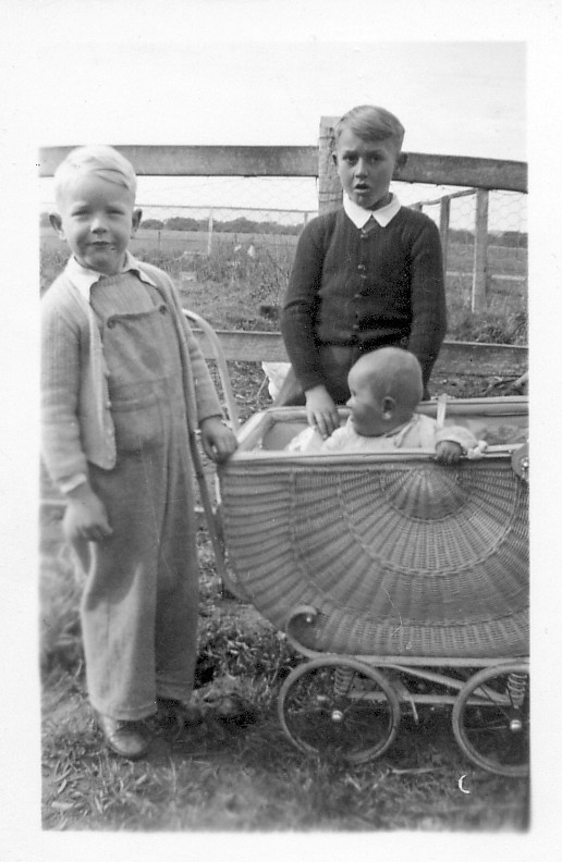 Three of Patricia's four sons: (from left) Peter, John and Ross.