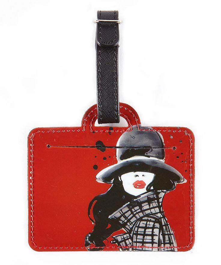 Red Windy Girl Luggage Tag by IZAK #zulily #zulilyfinds