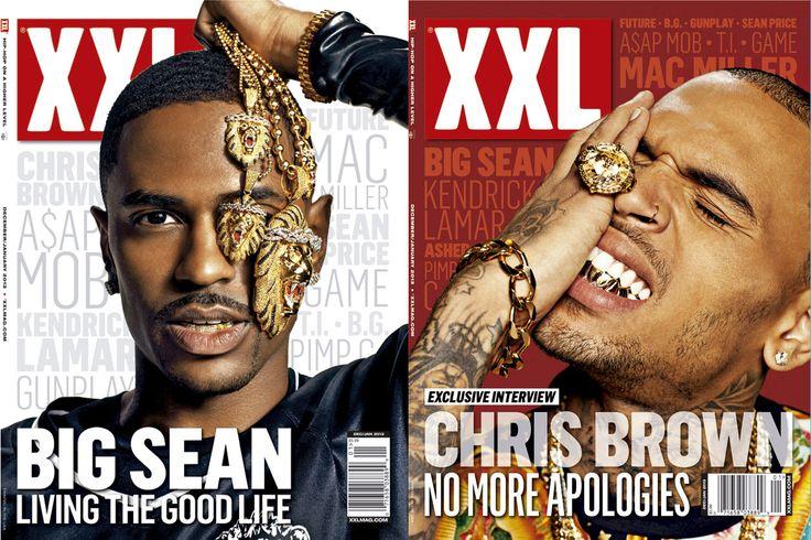 big sean and chris brown / xxl magazine