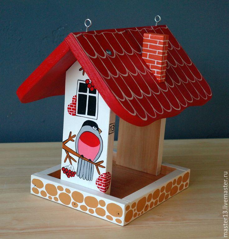 "Купить Кормушка ""Снегири"" - кормушка, кормушка для птиц, снегири, снегирь, скворечник, кормушки, кормушки для птиц"