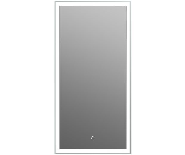 600mm Rectangular Mirror with Touch Sensor Integrated LED Lighting