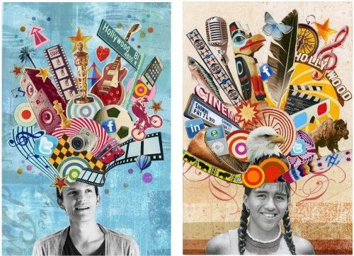 identity collage art project: