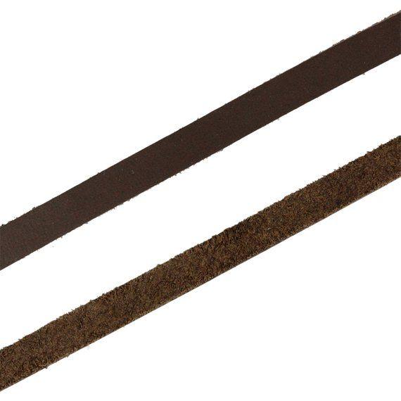 Auroris 5m Lederband Flach 4x2mm Dunkelbraun Leather Straps Leather Leather Cord