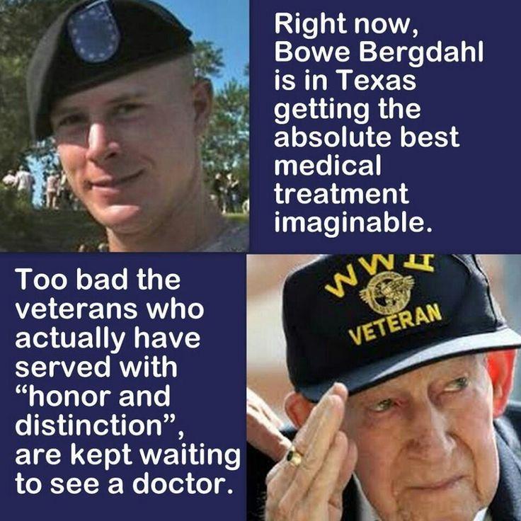 VA mistreatment - Bergdahl is likely a Muslim brainwashed convert back here as a sleeper.