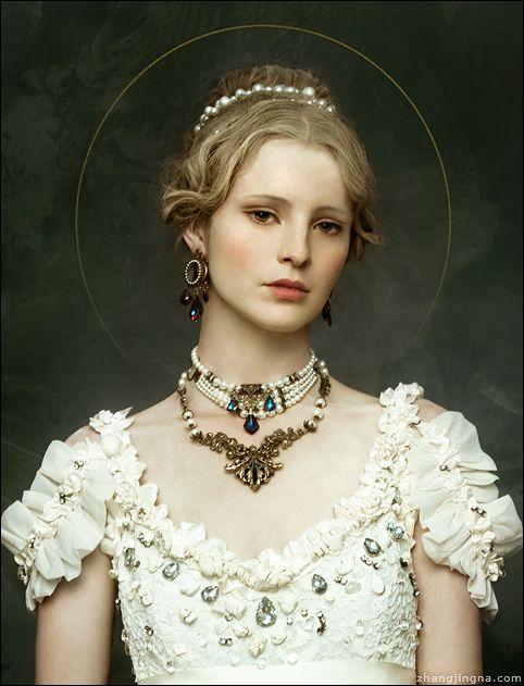 Dress: Leonid Gurevich Necklaces: Harlequin Romantique