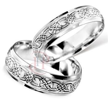 Matching Wedding Bands | Palladium Celtic Matching Wedding Band Set --- Palladium Wedding Rings These are pretty