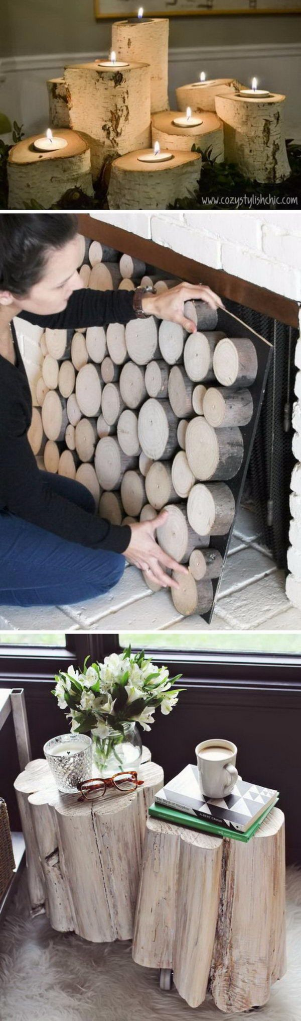 Cool Tree Stump and Log DIY Projects