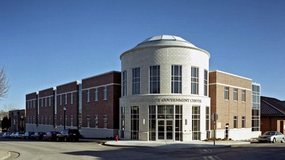 Preserving small town priorities with evolving needs | Franklin County Government Complex by TreanorHL    #justice #government #architecture
