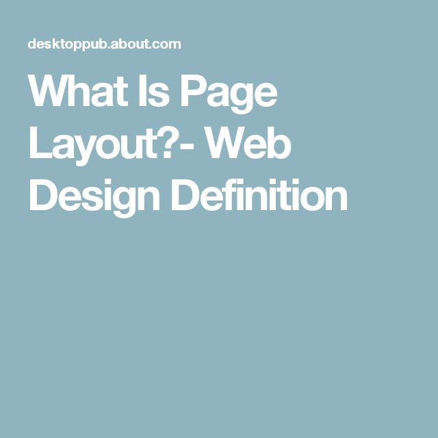 What Is Page Layout?- Web Design Definition