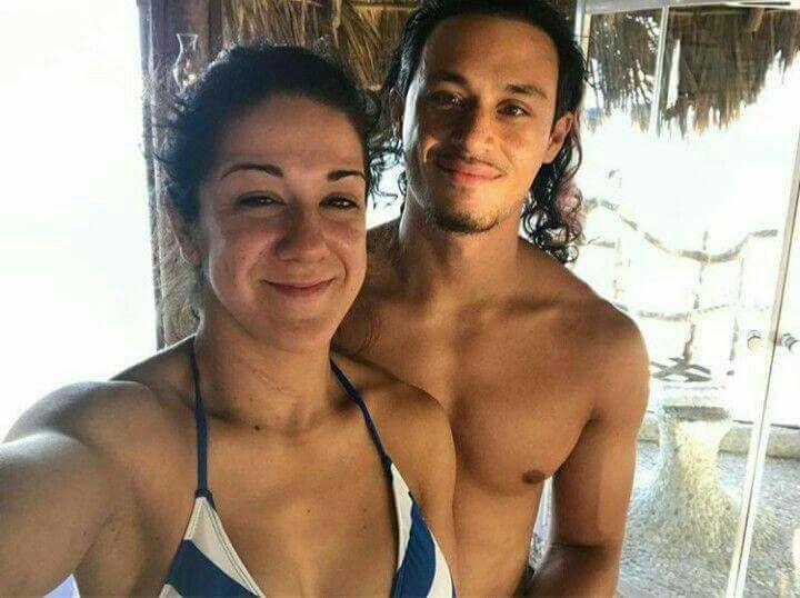 Pamela Martinez with Fiancé Aaron Solow
