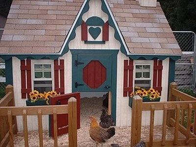 Designer hen houses