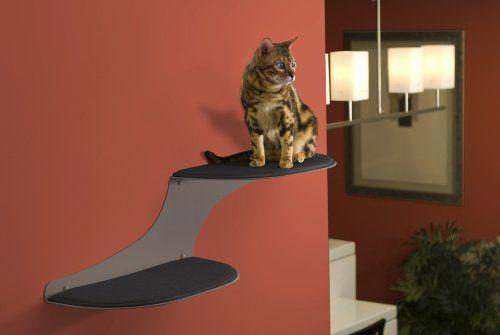 Amazon.com: The Refined Feline Cat Cloud Cat Shelves in Titanium, Right Facing: Pet Supplies