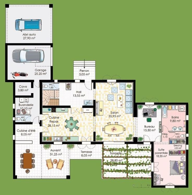 Plan maison avec suite parentale loft pinterest for Plan suite parentale 40m2