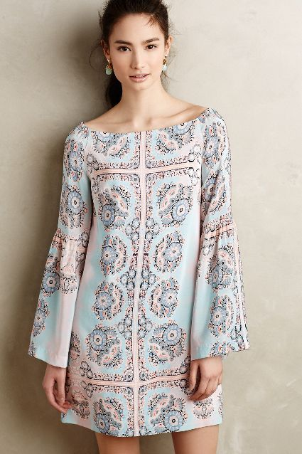 Costa Mesa Silk Shift - anthropologie.com