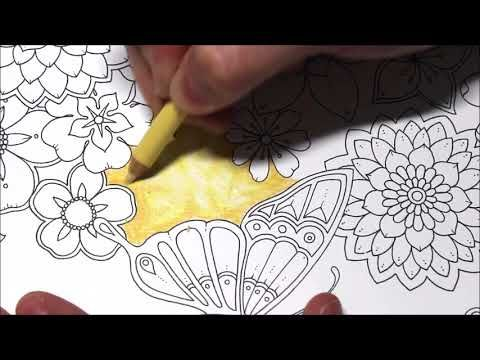 Yellow Background Tutorial - Johanna Basford, Magical Jungle - YouTube