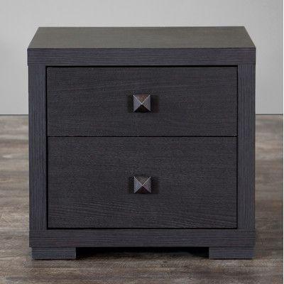 wholesale interiors baxton studio 2 drawer nightstand