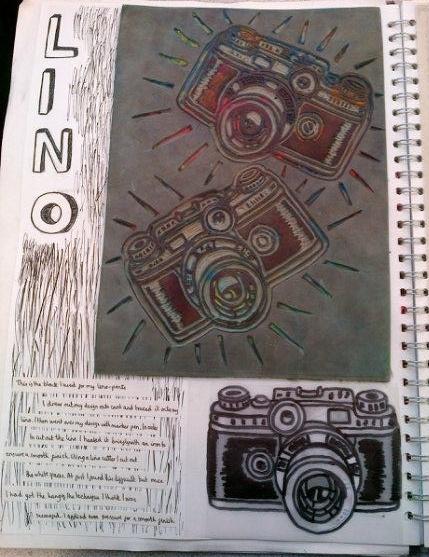 Cameras #lino #print