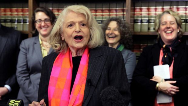 Edith Windsor, whose case led to authorized same-sex marriage within the US, dies at 88New York: Edith Windsor, the gay-rights activist whose landmark case led the US Supreme Court to grant same-sex married couples national recognition for the first time and rights to a host of federal benefits until then only enjoyed by married heterosexuals, has died in New York. She was 88.  Edith Windsor addresses a news conference in New York in 2012. Photo: AP Her wife, Judith Kasen-Windsor, confirmed…