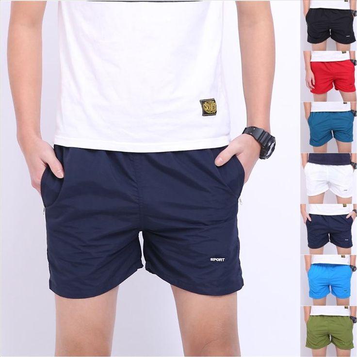 Anti-UV Men Basic Beach Sweatpants Causal Shorts Fitness Men's Shorts Quick Drying Fashion Trousers High Quality 7 Colors 20