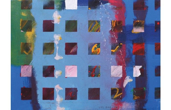 Vasile Tolan Structures  [2010]  Acrylic on canvas 46.5 × 63 cm (18.3 × 24.8 inch) Estimate €500 - €700  http://lavacow.com/structures.html
