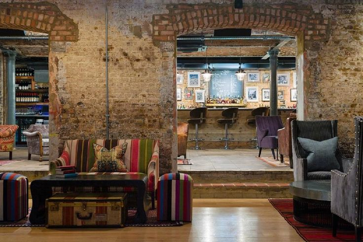 Jaks Kings Road, London - loving the exposed brickwork. would look great in the kitchen