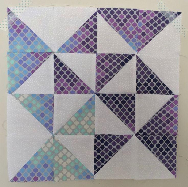 Peace and Plenty Half Square Triangle Quilt Block