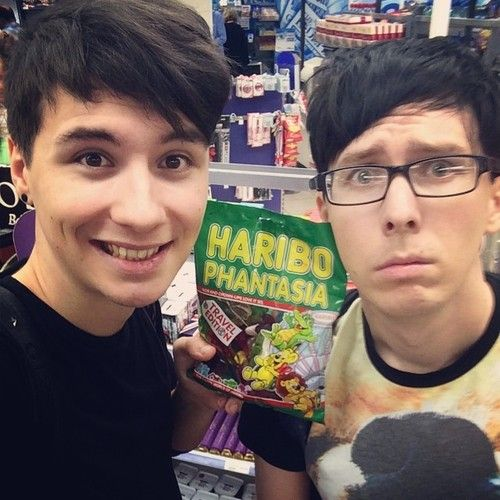 Dan: omg they named a haribo after me and phil!! OMG Phil and his glasses XD