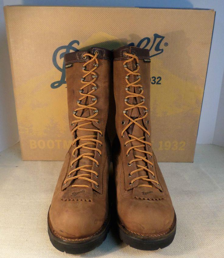 Danner 14573 Men S Quarry Logger Gtx Brown Plain Toe Boots