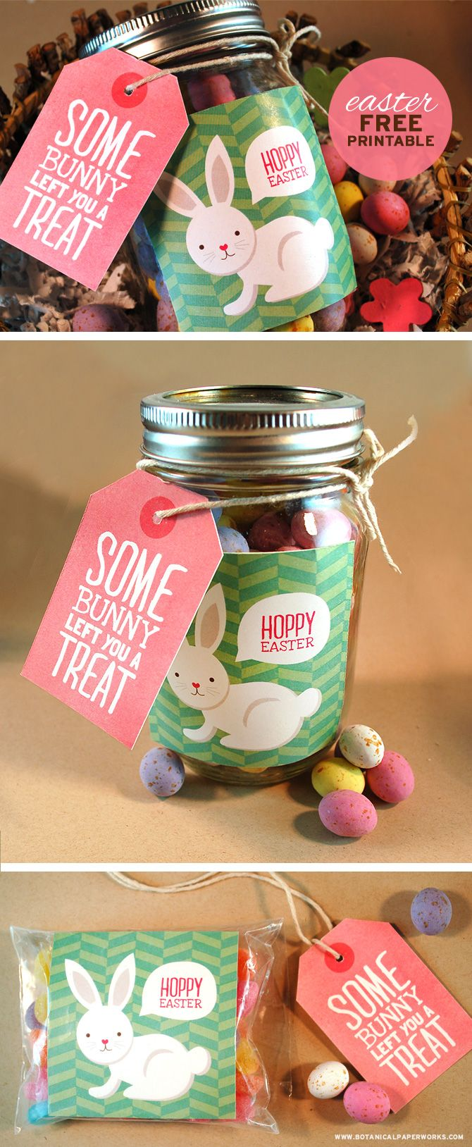 These adorable free printables are a great way to dress up your treat packages for friends and family this Easter.