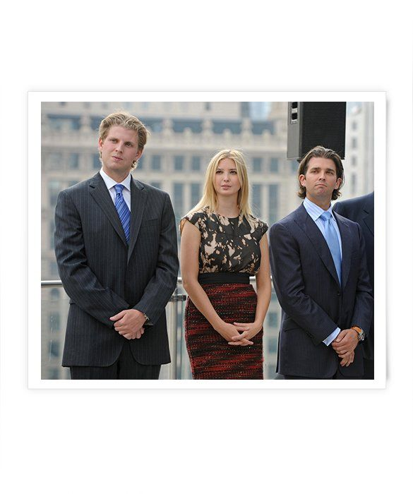 Although Donald Trump has five children, the three oldest kids—Donald Jr., 37; Ivanka, 33; and Eric, 31—have really stepped out as the fresh faces of their father's multi-billion-dollar empire. Just check out their resumes: All three serve as Executive Vice Presidents of Development & Acquisitions at The Trump Organization. Ivanka has her own handbag and shoe line; Donald Jr. is an ambassador for Operation Smile; and Eric started his own foundation to help children with serious illnesses at…