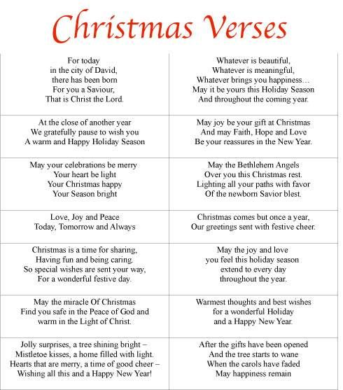 Free Printable Christmas Card Sayings