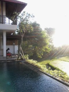 For rent house at kesambi KEROBOKAN  BALI so nice n cosy with small swimming pool , 2 rooms , air coN , spacious garden , gazebo , living room , kitchen all  full furnished ,quiet place near seminyak kerobokan , clear water deep well , 2,200 watts electricity , car port  7,500$ /year ( minimum 2 year )