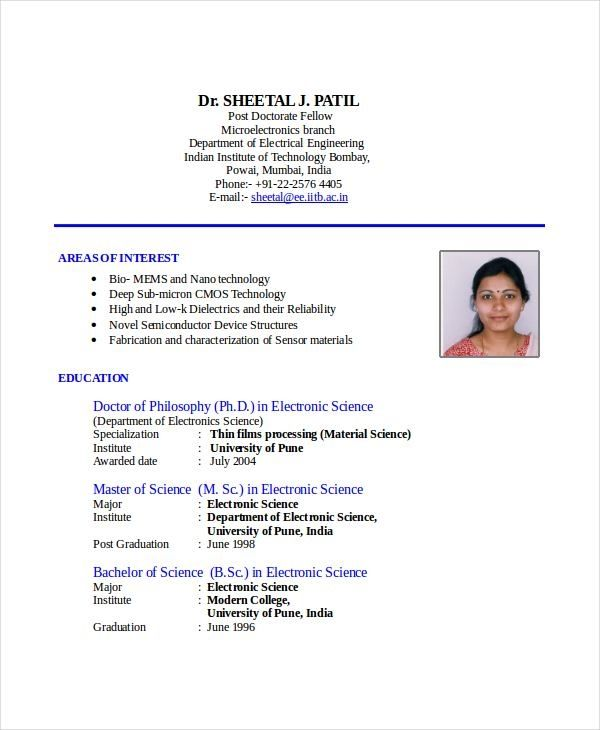 Resume Format India 2-Resume Format Sample resume format, Resume