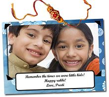 Personalised Postcard Rakhi at Lowest Price : New Design Rakhi Online Buy - Best Online Offer