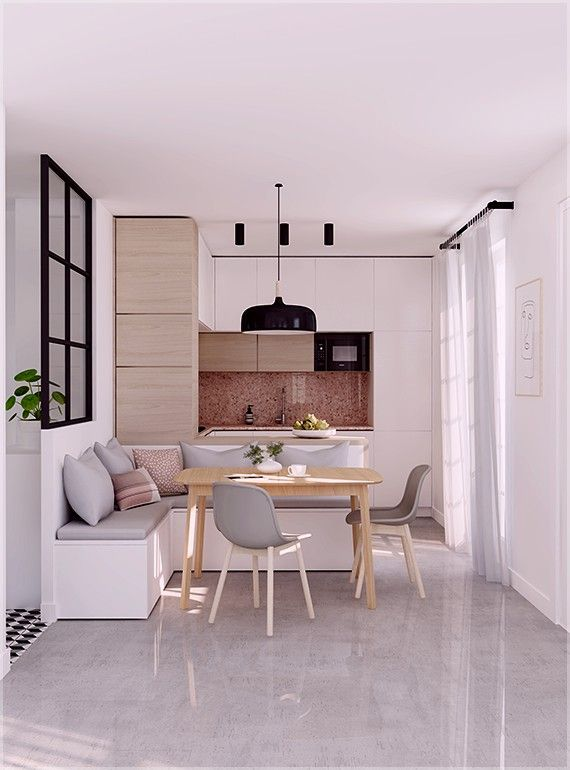 26 Best Kitchen Decor Design Or Remodel Ideas That Will Inspire You Homelovers Dining Room Small Kitchen Design Small Dining Room Bench