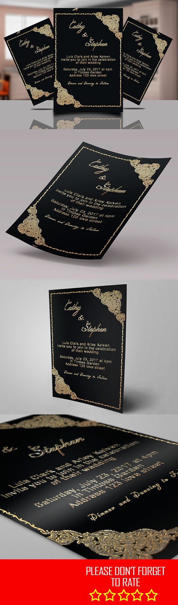 wedding card design software for android%0A WEDDING INVITATION FLYER TEMPLATE  All text editable easily  Format  x   inch   mm bleed