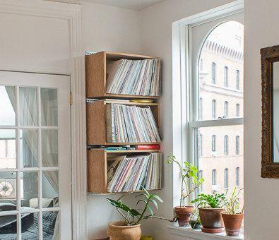 17 meilleures id es propos de rangement de vinyles sur pinterest rangement de disques. Black Bedroom Furniture Sets. Home Design Ideas