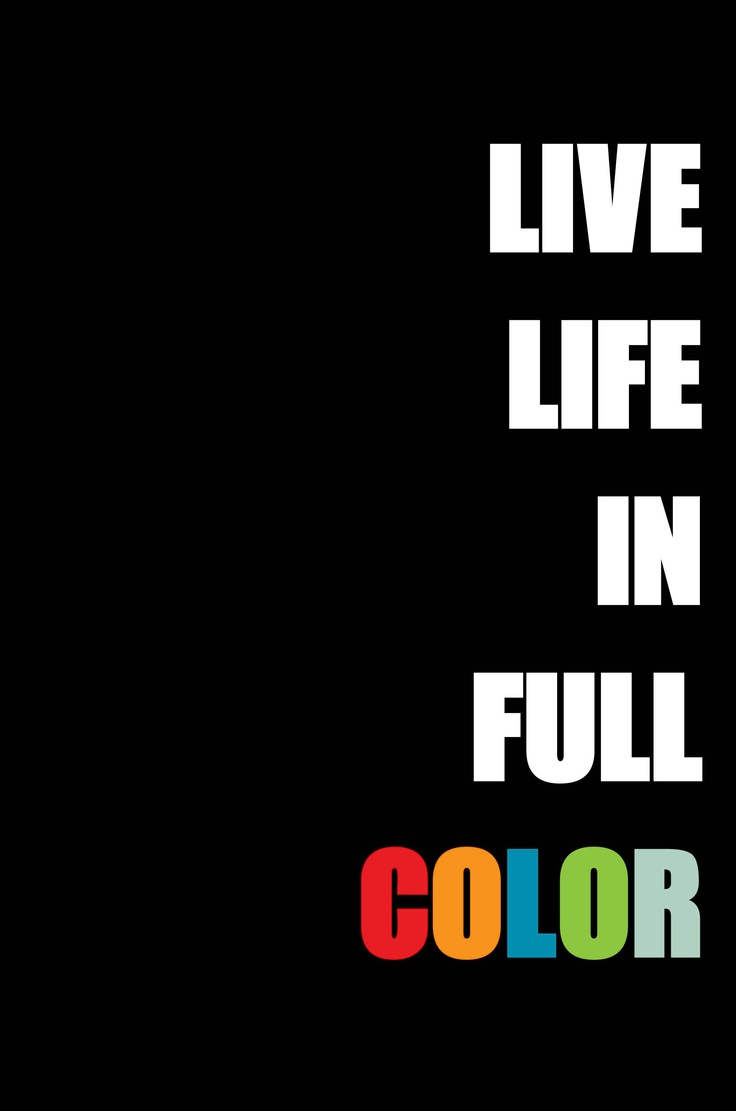 Color and art - Life In Full Color And Black And White By