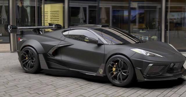 Flat Black C8 Corvette Via Reddit Corvette Black Flats Cars Com