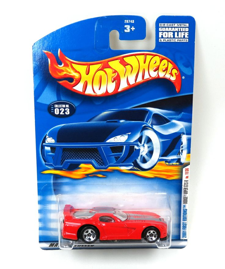Hotwheels Red Dodge Viper GTS-R, 2001 First Edition