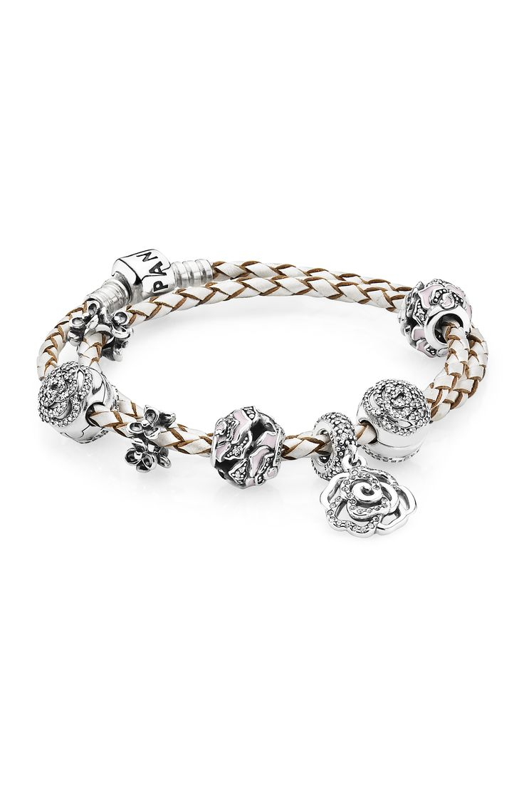 Pandora's Rose Pieces Are Dazzling Symbols Of Love Andpassion  The  Rose Opens It Petals Pandora Bracelet Charmspandora