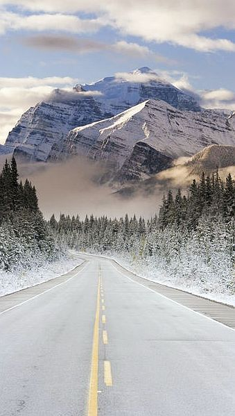 Extending from the Interior Plains of Alberta to the Rocky Mountain Trench of British Columbia.