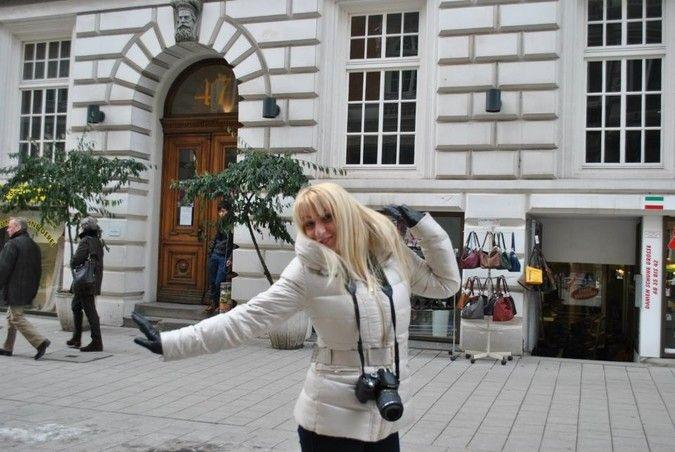 Having fun in Hamburg, Germany.