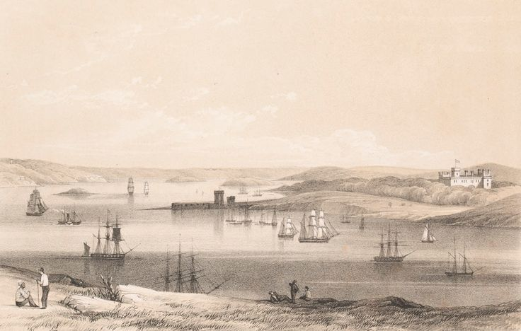Sydney Cove with Government House & Port Macquarie c1838