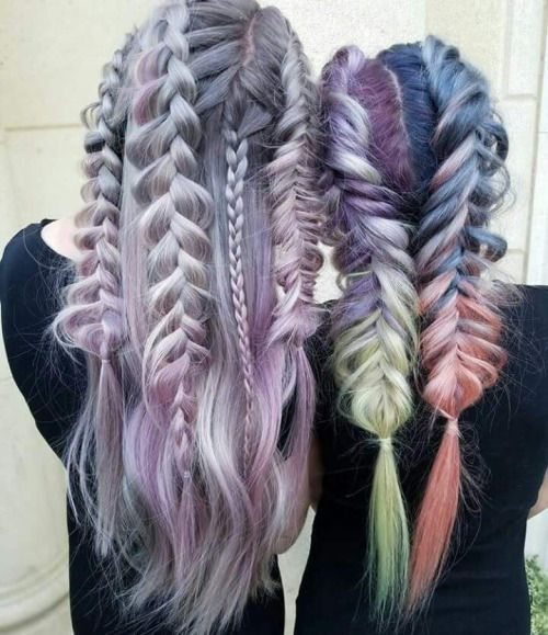 Gorgeous 2 Rainbow braids hairstyles by Guy Tang