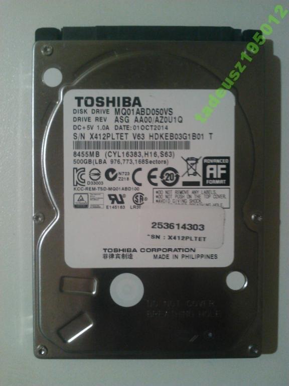 DYSK TOSHIBA 500 GB SATA III