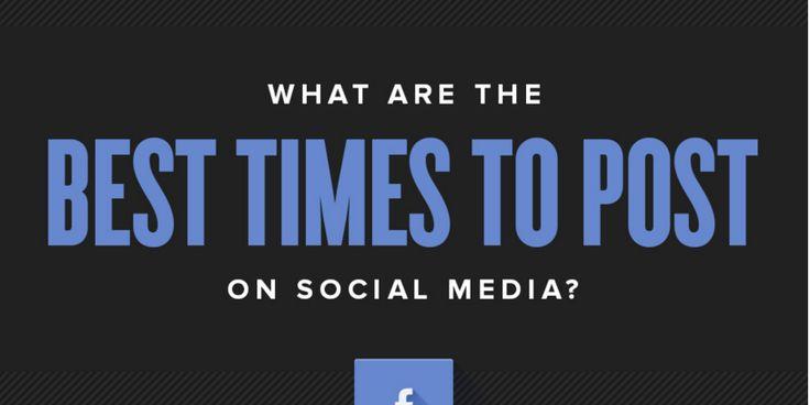 Här ser du tydlig vilken tid du ska lägga ett inlägg i sociala medier och i vilken kanal. Visste du att det är skillnad om du jobbar med B2B eller B2C?