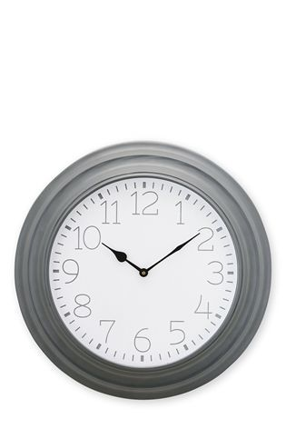 Buy Large Profile Metal Grey Clock from the Next UK online shop